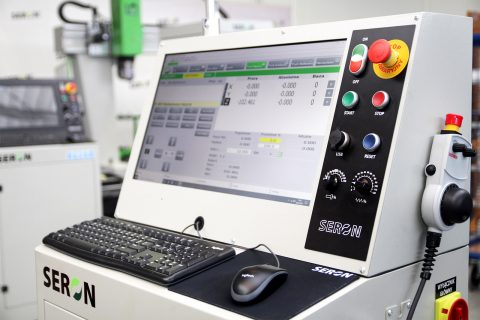 Functional and intuitive industrial control system for a CNC machines